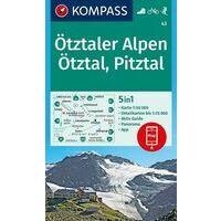 Kompass Wandelkaart 43 Ötztaler Alpen - Ötztal - Pitztal