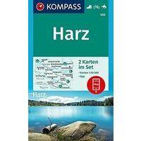 Kompass Wandelkaart 450 Harz