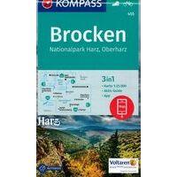 Kompass Wandelkaart 455 Brocken