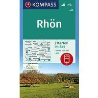 Kompass Wandelkaarten 460 Rhön Set