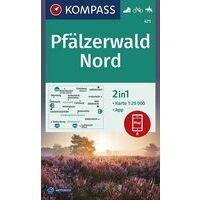 Kompass Wandelkaart 471 Pfälzerwald Nord