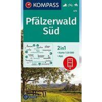 Kompass Wandelkaart 473 Pfälzerwald Süd