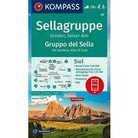 Kompass Wandelkaart 59 Sellagruppe - Gröden - Seiser Alm
