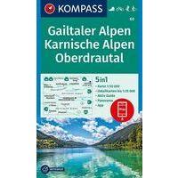 Kompass Wandelkaart 60 Gailtaler Alpen - Karnische Alpen