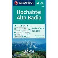 Kompass Wandelkaart 624 Hochabtei - Alta Badia