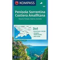 Kompass Wandelkaarten 682 Penisola Sorrentina - Costiera Amalfitana