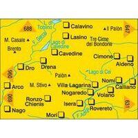 Kompass Wandelkaart 687 Monte Stivo Monte Bondone