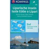 Kompass Wandelkaart 693 Liparische Eilanden