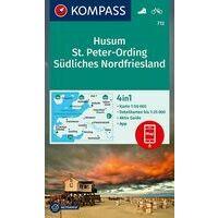 Kompass Wandelkaart 712 Husum - St. Peter-Ording
