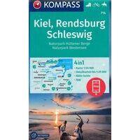 Kompass Wandelkaart 714 Kiel - Rendsburg