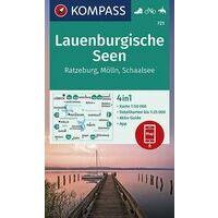 Kompass Wandelkaart 721 Lauenburgische Seen