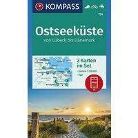 Kompass Wandelkaarten 724 Ostseekuste 2-map Set