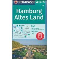 Kompass Wandelkaart 726 Hamburg - Altes Land