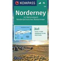 Kompass Wandelkaart 729 Norderney