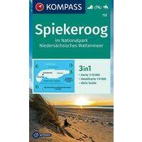 Kompass Wandelkaart 732 Spiekeroog Im Im NP Wattensee