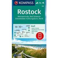 Kompass Wandelkaart 735 Rostock - Warnemünde