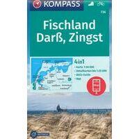 Kompass Wandelkaart 736 Fischland - Darss - Zingst