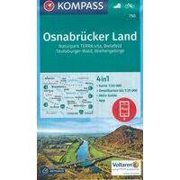 Kompass Wandelkaart 750 Osnabrücker Land