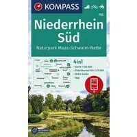 Kompass Wandelkaart 755 Niederrhein Süd