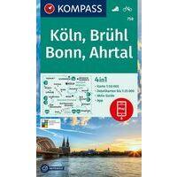 Kompass Wandelkaart 758 Köln - Bonn - Ahrtal