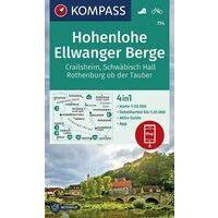 Kompass Wandelkaart 774 Hohenlohe - Ellwange Berge