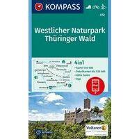 Kompass Wandelkaart 812 Westlicher Naturpark Thüringer Wald