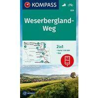 Kompass Wandelkaart  819 Weserbergland-Weg