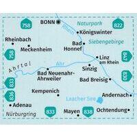 Kompass Wandelkaart 820 Bonn - Ahrtal