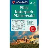 Kompass Wandelkaarten 826 Pfalz - Naturpark Pfälzerwald