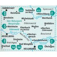 Kompass Wandelkaart 827 Bergstrasse - Odenwald
