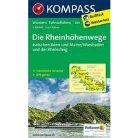 Kompass Wandelkaart 829 Rheinhöhenwege