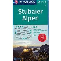 Kompass Wandelkaart 83 Stubaier Alpen