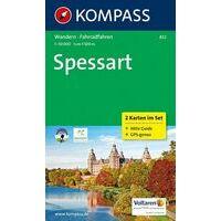 Kompass Wandelkaarten 832 Spessart Gebergte
