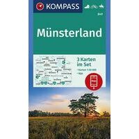Kompass Wandelkaarten 849 Münsterland