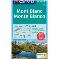 Kompass Wandelkaart 85 Mont Blanc - Monte Bianco