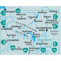Kompass Wandelkaarten 865 Mecklenburgische Seenplatte