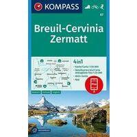 Kompass Wandelkaart 87 Breuil - Cervinia