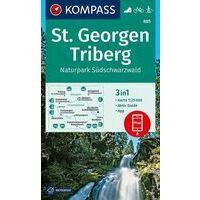 Kompass Wandelkaart 885 St. Georgen - Triberg
