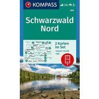 Kompass Wandelkaart 886 Schwarzwald Nord