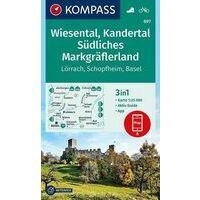 Kompass Wandelkaart 897 Wiesental - Kandertal