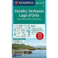 Kompass Wandelkaart 97 Varallo - Verbania