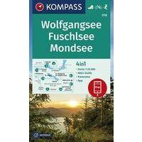 Kompass Wandelkaart 018 Wolfgangsee - Fuschlsee