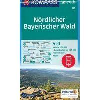 Kompass Wandelkaart 195 Nördlicher Bayerischer Wald