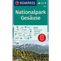 Kompass Wandelkaart 206 Nationalpark Gesause