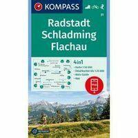 Kompass Wandelkaart 31 Radstadt - Schladming - Flachau
