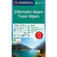 Kompass Wandelkaart 37 Zillertaler Alpen
