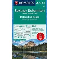 Kompass Wandelkaart 58 Sextner Dolomiten