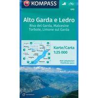 Kompass Wandelkaart 690 Alta Garda E Ledro
