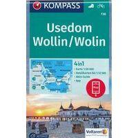 Kompass Wandelkaart 738 Insel Usedom - Wollin