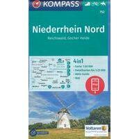 Kompass Wandelkaart 752 Niederrhein Nord